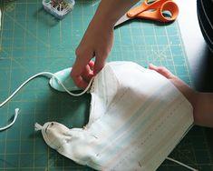 Baby Drool Bibs With FREE Pattern Sewing Patterns Free, Free Pattern, Crib Sheet Tutorial, Drool Bibs, Fabric Scissors, Macrame Cord, Pom Pom Trim, Baby Sewing, Different Fabrics