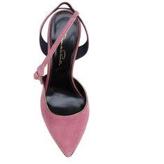 Oscar de la Renta bow detail pumps (1,331 CAD) ❤ liked on Polyvore featuring shoes, pumps, oscar de la renta, bow pumps, suede shoes, pink bow pumps and pink suede shoes
