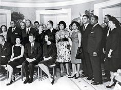 Black Power Dressing - Johnson and her husband, John (third to her left), at the White House, celebrating the centennial of the Emancipation Proclamation, 1963.