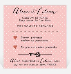 Carton réponse mariage