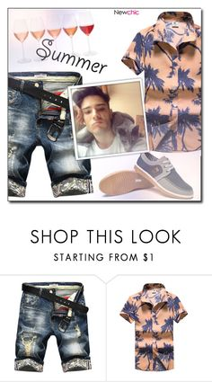 """""""Newchic (9/IX)"""" by dorinela-hamamci ❤ liked on Polyvore featuring men's fashion and menswear"""