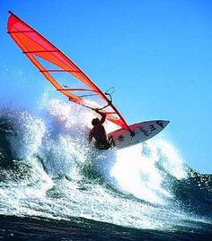 Wind surfing, this is on my bucket list as well!