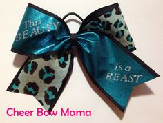 This BEAUTY is a BEAST... Cheer Bow by Cheer Bow Mama