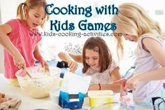 Try these kids cooking games during a cooking party, birthday party, after school cooking class or just for fun at home.