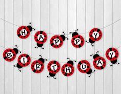 Ladybug-themed Birthday Party Banner 1