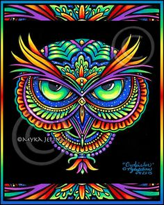 Psychedelic Owl Rainbow Trippy Hippie Fantasy Original Acrylic Painting This listing is for the original acrylic painting of Owleister a super Psychedelic Art, Fantasy Kunst, Fantasy Art, Trippy Hippie, Art Visage, Owl Wallpaper, Psy Art, Dot Art Painting, Acrylic Paintings