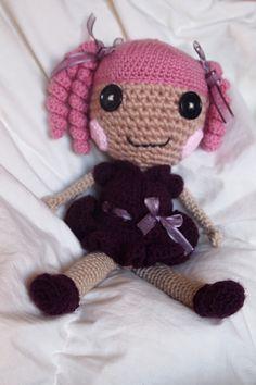 Lalaloopsy style crochet doll by crochetopia