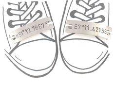 1 Paar Schnürsenkel Charm Koordinaten Schuh Tag