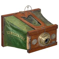 Le Scenographe, France, c1875.  First folding camera.  Invented by Belgian -  Ernest Candeze.
