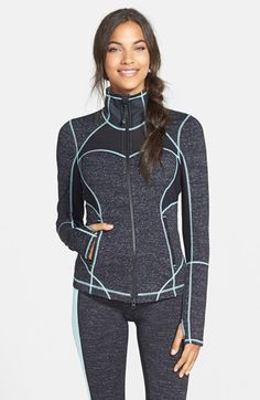Zella 'Fiona' Space Dye Pop Jacket | Nordstrom
