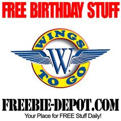FREE BIRTHDAY STUFF – Wings To Go - FREE BDay Wings @wingstogoinc