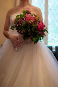 スマートフォンサイト:小笠原伯爵邸での結婚式 ウェディングドレスベルライン1・Ms.Sachi.K.2008.5.16