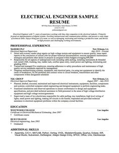 7 Best Electrical Engineering images | Engineering resume ...