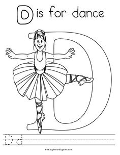 The Letter D Coloring Pages. 30 the Letter D Coloring Pages. My A to Z Coloring Book Letter D Coloring Page Dance Coloring Pages, Letter A Coloring Pages, Coloring Pages For Boys, Free Printable Coloring Pages, Coloring Sheets, Coloring Books, Dance Moms, Teach Dance, Dance Crafts