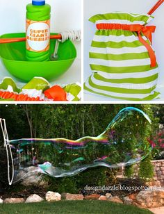 """Been dying to do this with the kids.  Now I have the """"how to"""" and the """"secret"""" bubble recipe - he he."""