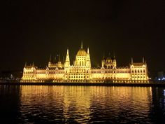 Parliament buildings at night, Budapest