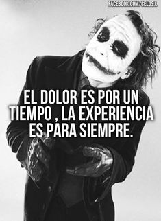 Joker Frases, Joker Quotes, Me Quotes, Quotes En Espanol, Life Learning, Inspirational Phrases, Thinking Quotes, Joker And Harley, Spanish Quotes