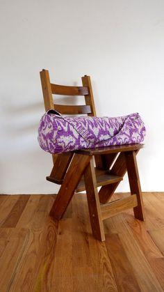 Purple Ikat Yoga Bag // Kantha Yoga Bag by LiveLoveSmile on Etsy, €45.00
