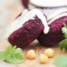 Roast Beetroot Falafels – easy gluten-free vegan deliciousness – Trinity's Conscious Kitchen