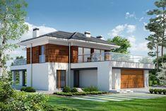 DOM.PL™ - Projekt domu PPE KLASYCZNY D33 CE - DOM EG1-26 - gotowy koszt budowy Home Fashion, Backyard, Mansions, House Styles, Outdoor Decor, Home Decor, Houses, Google, Ideas