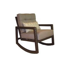 allen + roth Lawley Steel Outdoor Rocking Chair at Lowe's Canada