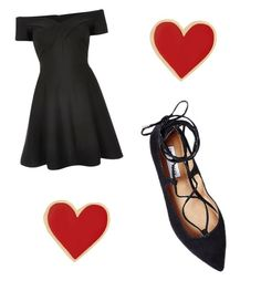 """""""Queen of Black and Red"""" by chocolatedropp on Polyvore featuring River Island, Steve Madden and Alison Lou"""