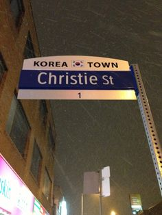 Korea Town in Toronto, ON