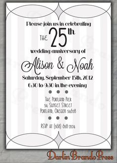 Popular Wedding Invitation Blog Invitation Cards For 25th