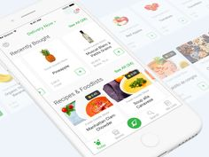 Food Deliver iOS App Design by Ramotion - Dribbble Ios App Design, Mobile Ui Design, User Interface Design, App Home Screen, Delivery App, Mobile App Ui, Web Inspiration, Humor, Shots