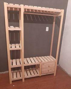 Teen Bedroom Designs, Room Design Bedroom, Room Ideas Bedroom, Diy Room Decor, Bedroom Decor, Diy Pallet Bed, Diy Pallet Furniture, Pallet Room, Pallet Wardrobe