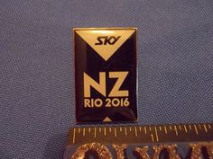 2016 Rio Olympic Media Pin NZ New Zealand Sky