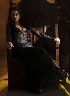"Look at Morgana sitting there like ""oh yeah I'm awesome I'm Queen of Camelot!!!"" Luv it!!!"
