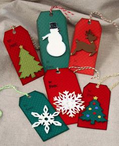 Simple Christmas tags - anyone can make these