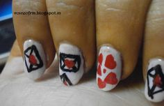 Love Letter Nails.  cute, could have been done a little cleaner.