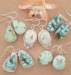 Four Corners USA OnLine Dry Creek Turquoise Earrings Collections Native American. - Four Corners USA OnLine Dry Creek Turquoise Earrings Collections Native American Indian Jewelry - I Love Jewelry, Jewelry Shop, Jewelry Stores, Silver Jewelry, Antique Jewelry, Jewlery, Opal Jewelry, Silver Earrings, Jewelry Accessories