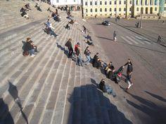 Helsinki Cathedral steps