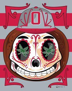The Ohio State University Buckeye Sugar Skull 💀💀