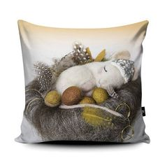 Mouse cushion - PRE ORDER - A luxurious faux suede square soft cushion pillow printed with original art Portrait Illustration, Hand Illustration, Handmade Christmas Gifts, Handmade Gifts, Art Pad, Graffiti I, Baby Deer, Felt Art, Lovers Art