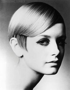 Probably thes most famous #pixie cut of all time. #Twiggy 1960