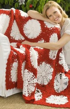 christmas afghan patterns | Pattern Book » Christmas in July – Crochet a Christmas Afghan ...