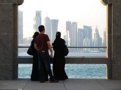 Doha from Museum of Islamic Art (MIA). view on Fb https://www.facebook.com/SinbadsQatarPocketGuide  crdeit: kgbbristol