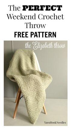 The Elizabeth Throw with a FREE Crochet pattern! - yarnhookneedles - YarnHookNeedles