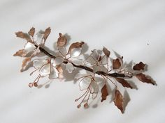 One Fine Day, Copper Jewelry, Headdress, Beaded Embroidery, Hair Pieces, Diy Art, Costume Jewelry, Vines, Crafts For Kids