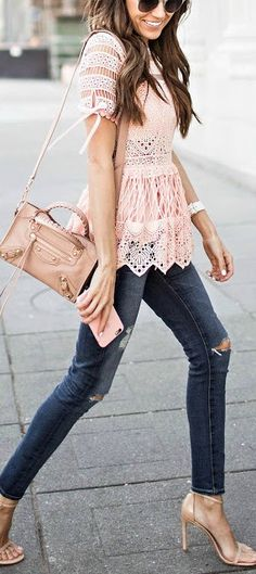 Blush + nude, super cute top!