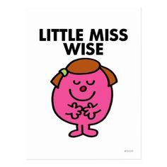 Contemplative Little Miss Wise Postcard #mothersday #momsday #mothersdaycards #mothersdaycard #greetingscards Little Miss Characters, Little Miss Books, Mr Men Little Miss, Pretty Pics, Pretty Pictures, Borei Class Submarine, First Hulk, Mothersday Cards, 1980s Childhood