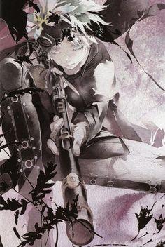 Imagem de rokka no yuusha, gun, and fremy