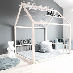 Minimal grey room for boy or girl