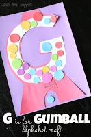 E is for Elmo Preschool Alphabet Craft | School Time Snippets
