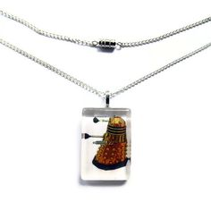 Dalek Necklace, Doctor Who Glass Tile Pendant Necklace by HausofAriella @Etsy #doctorwho
