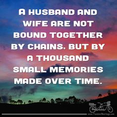 What are you doing to make memories with your spouse? #TandemMarriage #marriagegoals